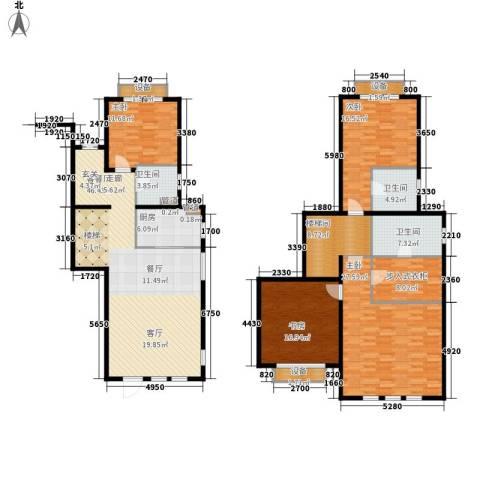 浦江颐城尚院4室1厅3卫1厨180.00㎡户型图