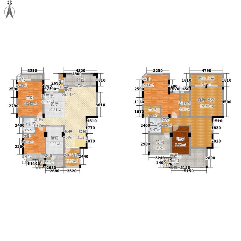 中国铁建江湾山语城213.00㎡顶复户型5室2厅3卫1厨