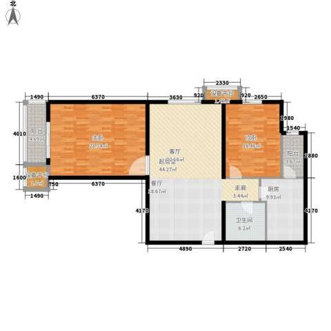 吉祥双子星大厦2室0厅1卫1厨130.00㎡户型图