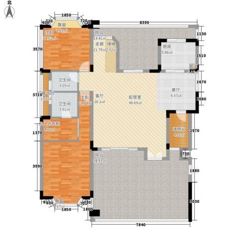 莲花苑四期2室0厅2卫1厨164.00㎡户型图