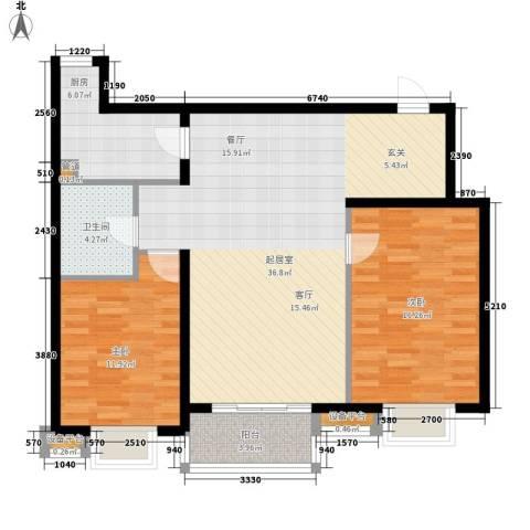 莲花苑四期2室0厅1卫1厨164.00㎡户型图