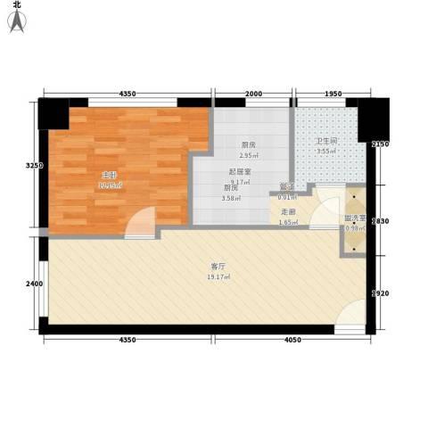 恒隆花园1室1厅1卫0厨69.00㎡户型图