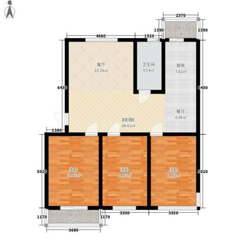 银城花园3室0厅1卫0厨117.00㎡户型图