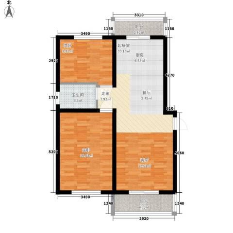 银城花园2室0厅1卫0厨79.00㎡户型图