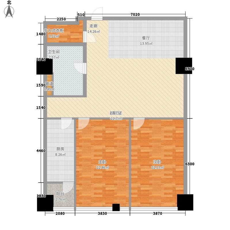 时代国际129.91㎡时代国际户型图乐居风尚公寓Cf户型2室2厅1卫户型2室2厅1卫