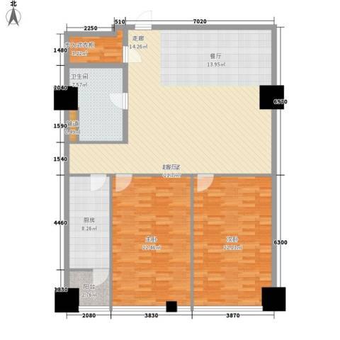 时代国际2室0厅1卫1厨130.00㎡户型图