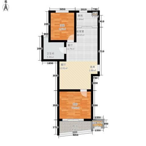 新天地公寓2室0厅1卫1厨100.00㎡户型图