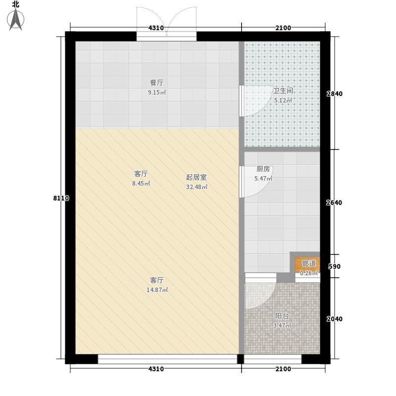 理想045152.37㎡理想0451户型图5号楼B7户型1室2厅1卫户型1室2厅1卫