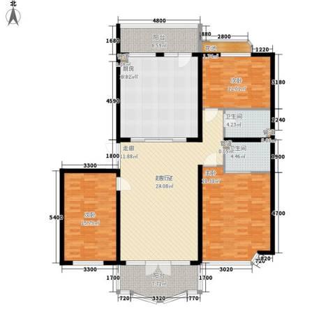 润园翡翠城3室1厅2卫0厨177.00㎡户型图