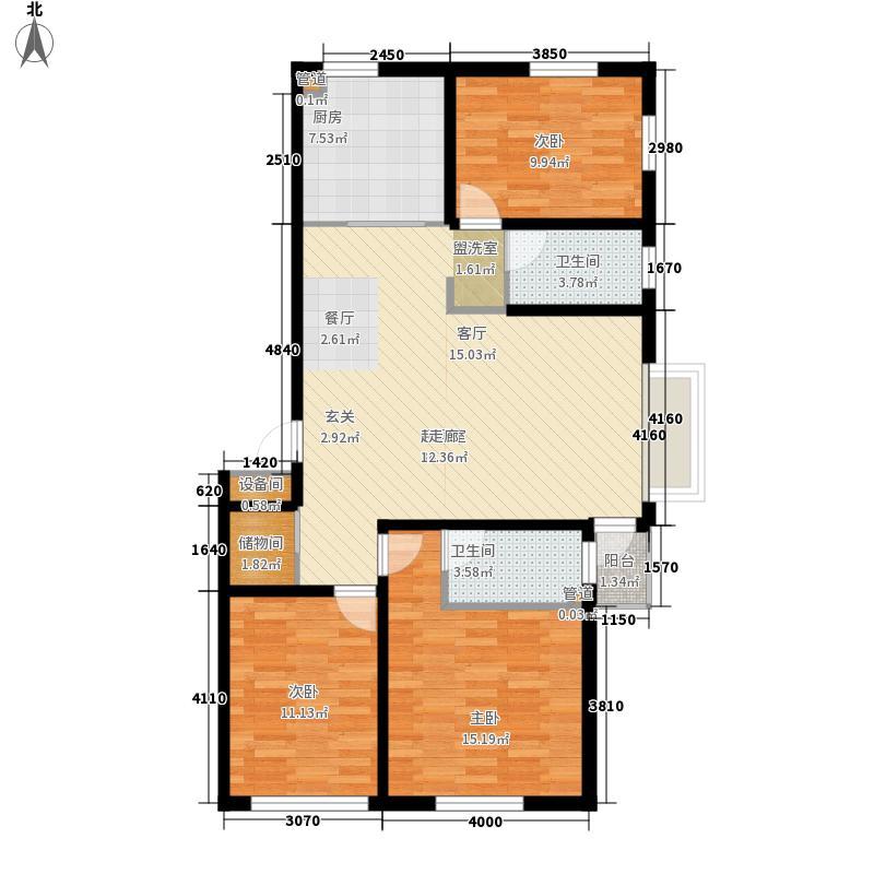 金色8里城116.90㎡D-4户型3室2厅