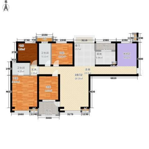 长江丰泽园4室0厅2卫1厨150.00㎡户型图