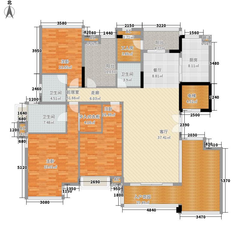 合生湖山国际215.00㎡增城新塘维也纳山林二期C栋01单位户型3室2厅