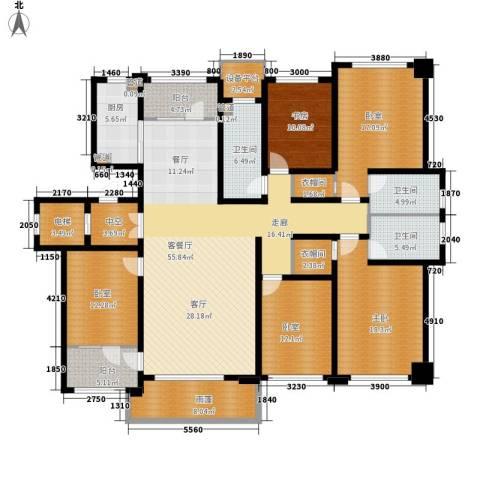 肯彤国际2室1厅3卫1厨213.00㎡户型图
