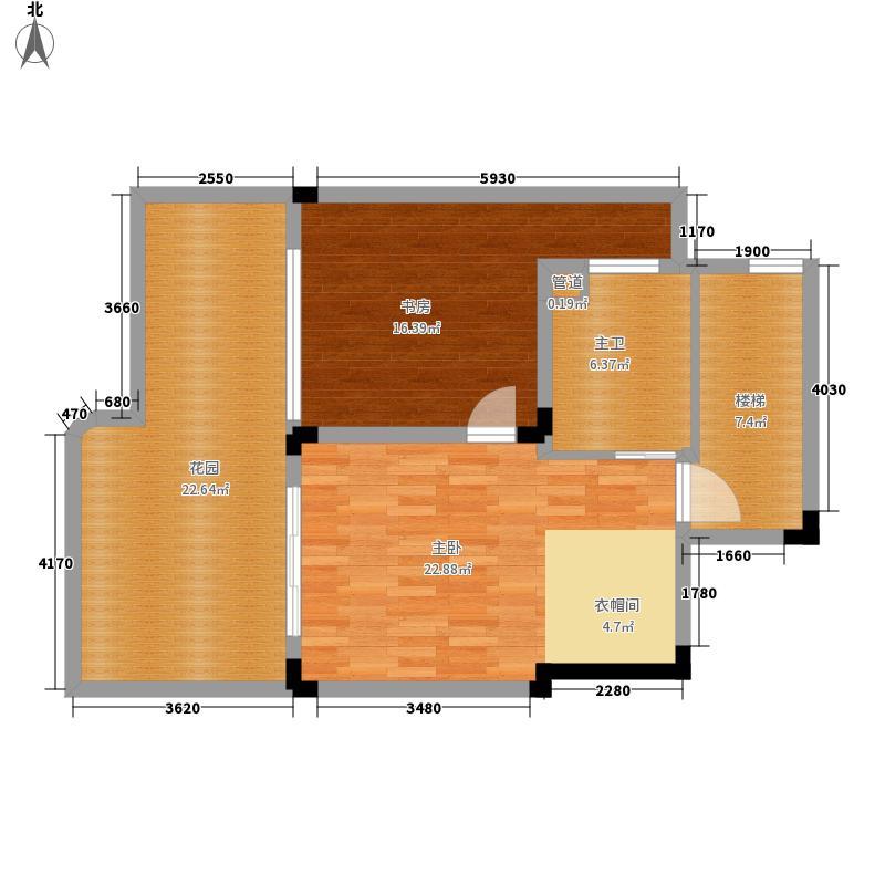 檀香山公园里172.41㎡一期1号楼跃层A32层户型4室2厅2卫1厨