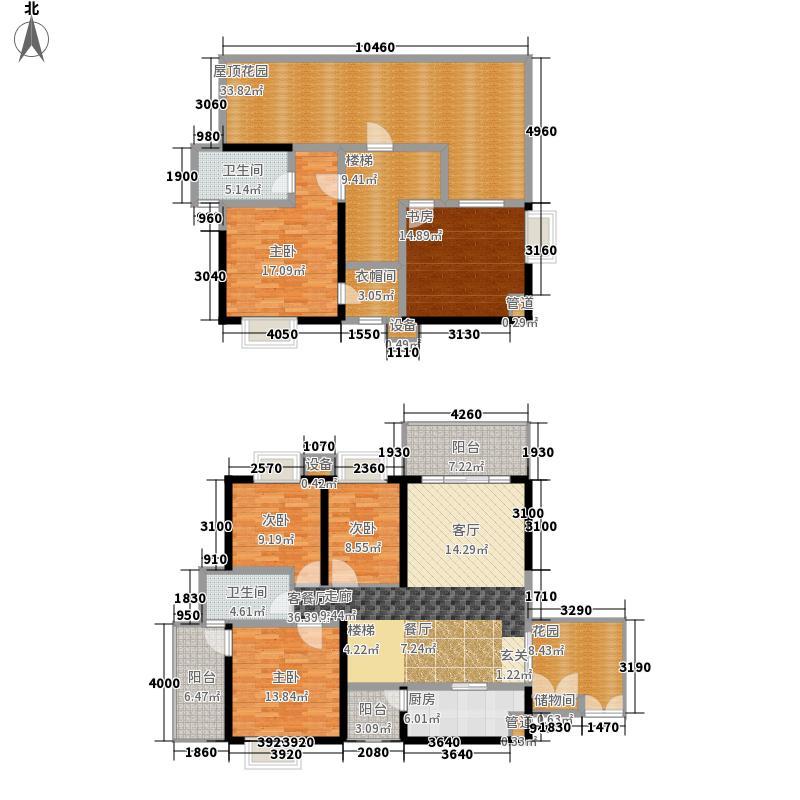 锦都184.36㎡锦都户型图A跃1型5室2厅2卫1厨户型5室2厅2卫1厨