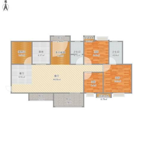 茗阳天下3室1厅2卫1厨148.00㎡户型图
