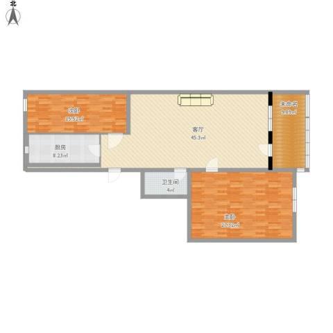 北京人家2室1厅1卫1厨154.00㎡户型图