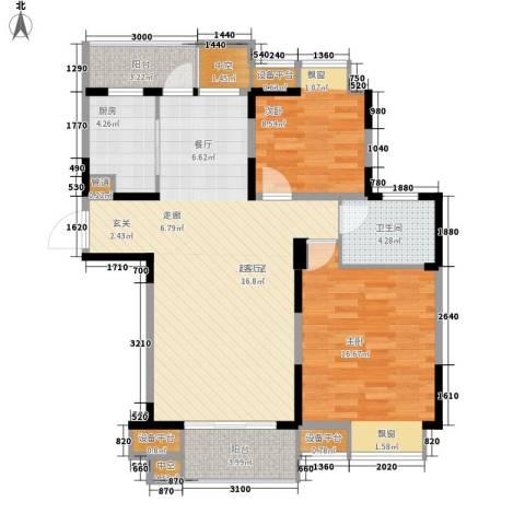金浦名城世家2室0厅1卫1厨89.00㎡户型图