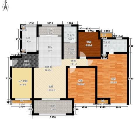 绿地香颂公寓3室0厅2卫1厨175.00㎡户型图