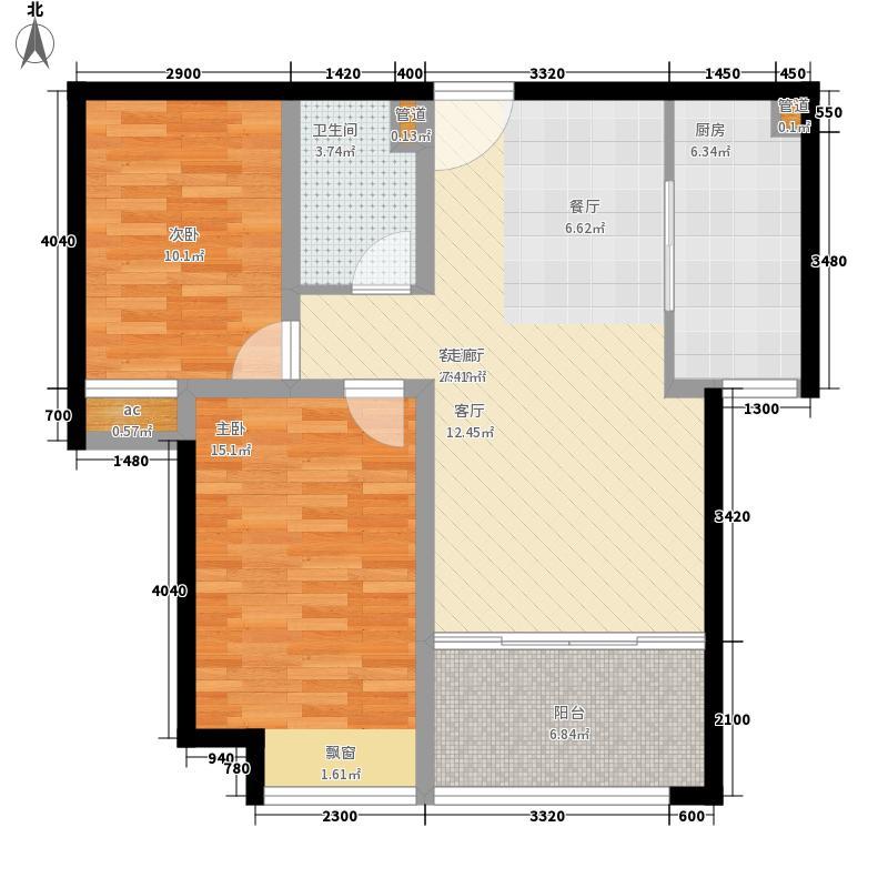 济南鲁能领秀城92.46㎡济南鲁能领秀城户型图18号楼C-2户型2室2厅1卫户型2室2厅1卫