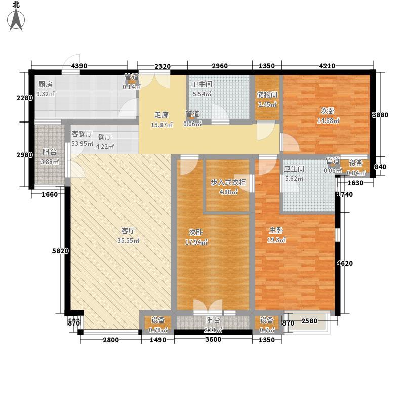 济南鲁能领秀城162.25㎡济南鲁能领秀城户型图(售完)3室2厅2卫户型3室2厅2卫