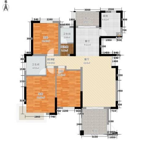 盛世华章3室0厅2卫1厨137.00㎡户型图