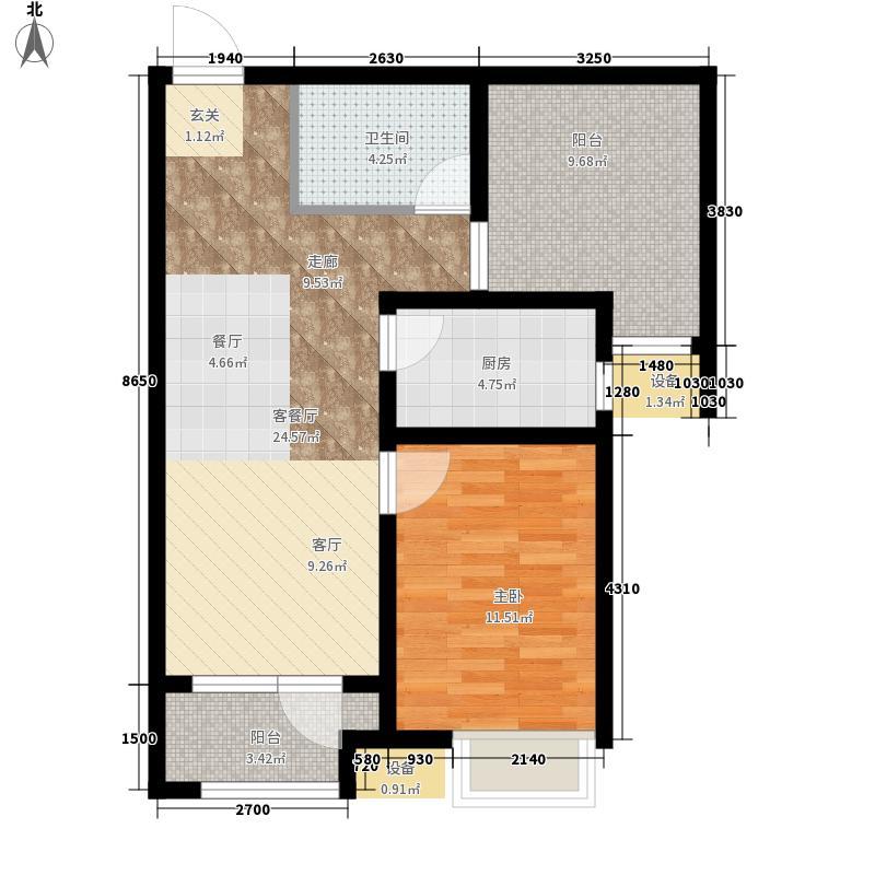 空港家园6.00㎡四期高层K户型2室2厅1卫1厨