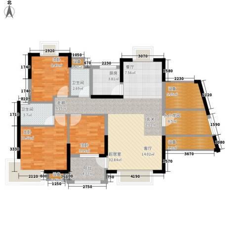 联泰香域尚城3室0厅2卫1厨107.00㎡户型图
