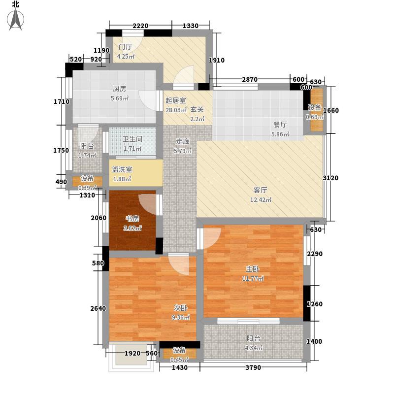 航天云海台84.80㎡6户型2室2厅1卫