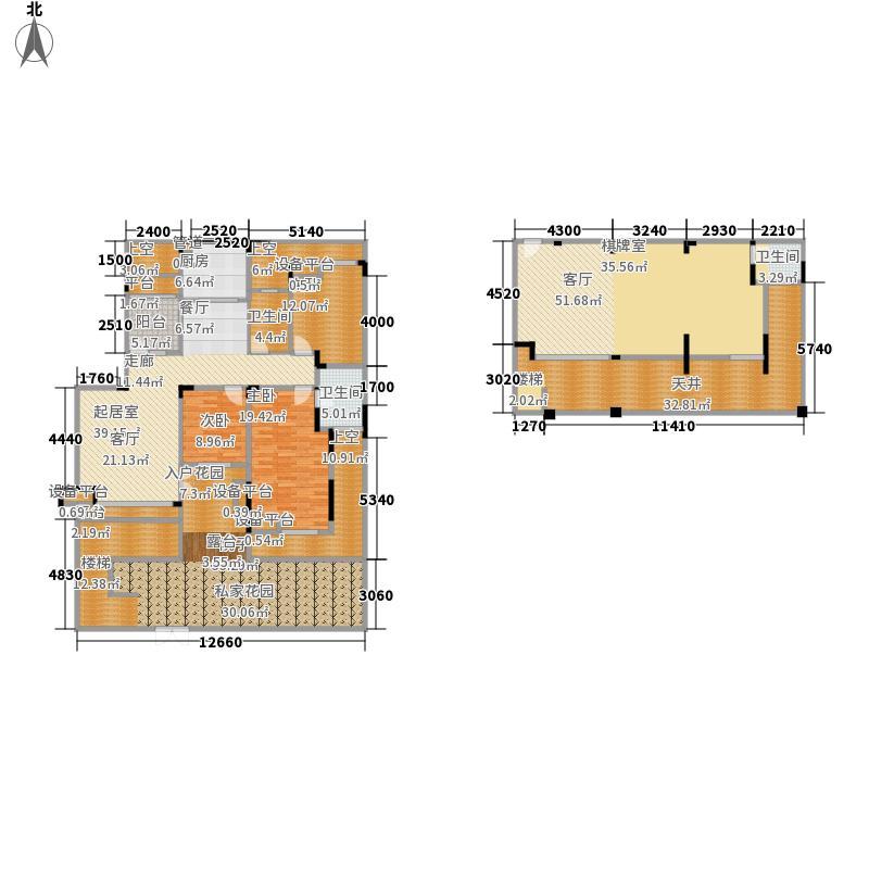 聚义香城故事169.98㎡一期标准层面积16998m户型