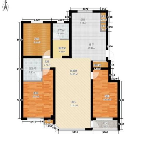 盈胜毓园3室0厅2卫0厨136.00㎡户型图