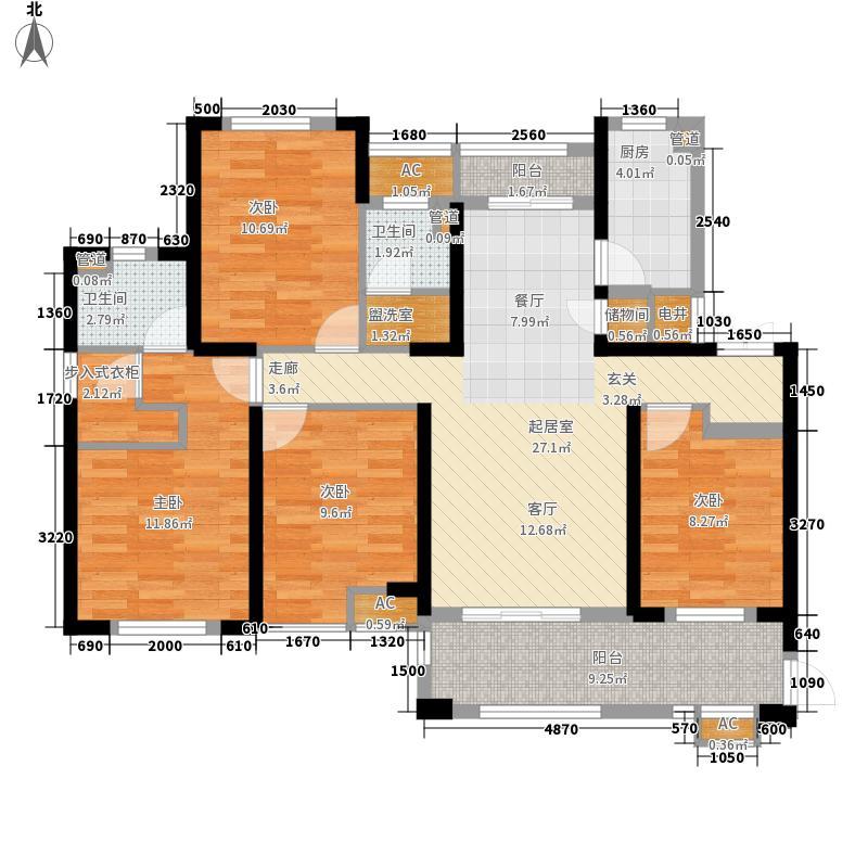 南天金源114.73㎡F1户型4室2厅2卫