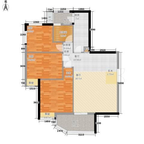 翠城花园三期3室0厅1卫1厨104.00㎡户型图