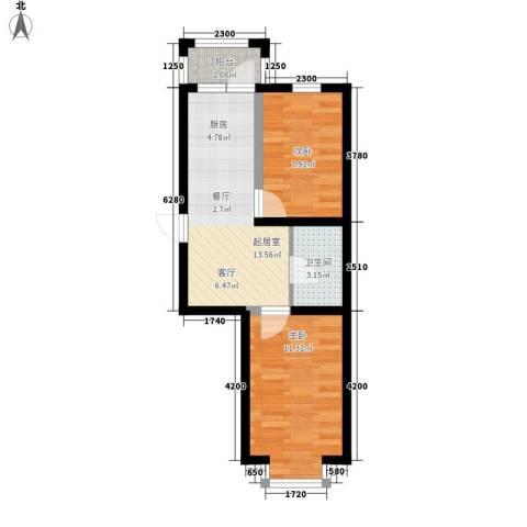 幸福里2室0厅1卫0厨45.00㎡户型图
