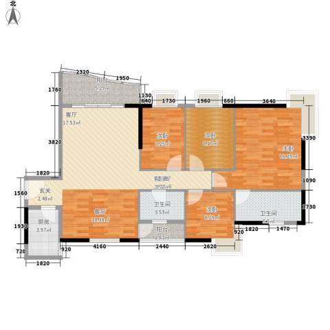 雅仕荔景苑4室1厅2卫1厨128.00㎡户型图