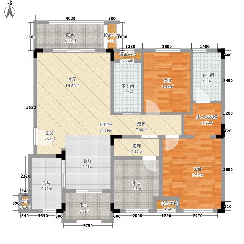万科白鹭郡114.00㎡青洋房Aa1户型3室2厅