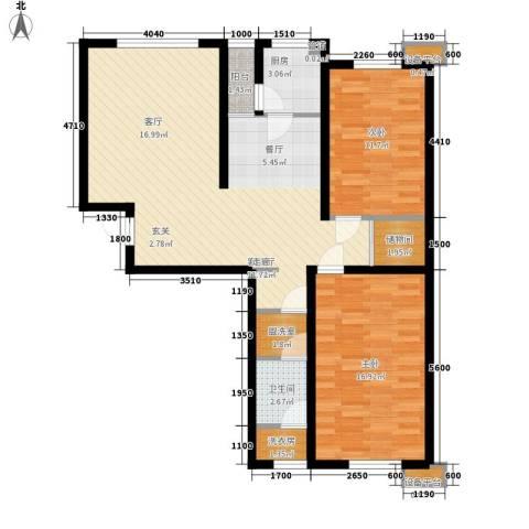 咖啡小镇二期2室1厅1卫1厨113.00㎡户型图