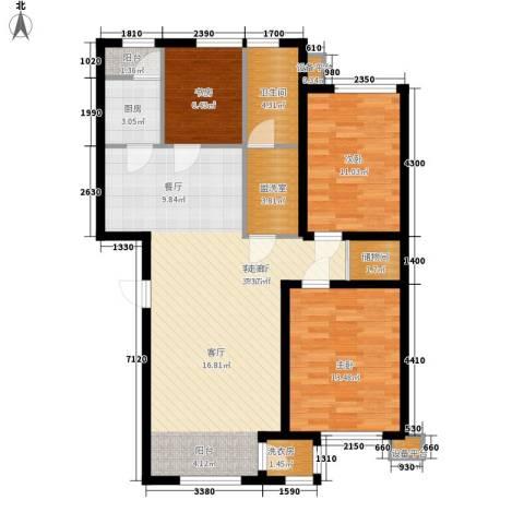 咖啡小镇二期3室1厅1卫1厨122.00㎡户型图