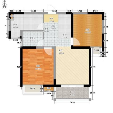 万国金色家园2室0厅1卫1厨84.00㎡户型图