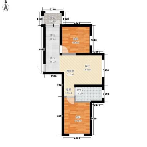 幸福里2室0厅1卫0厨53.00㎡户型图