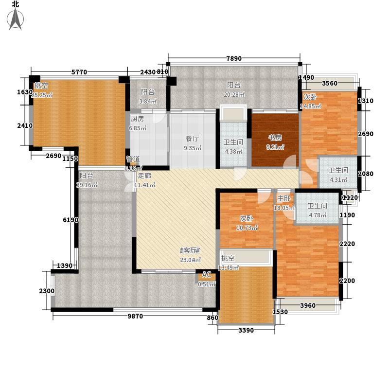 公园大地169.00㎡22栋02(奇数层)四房二厅三卫户型