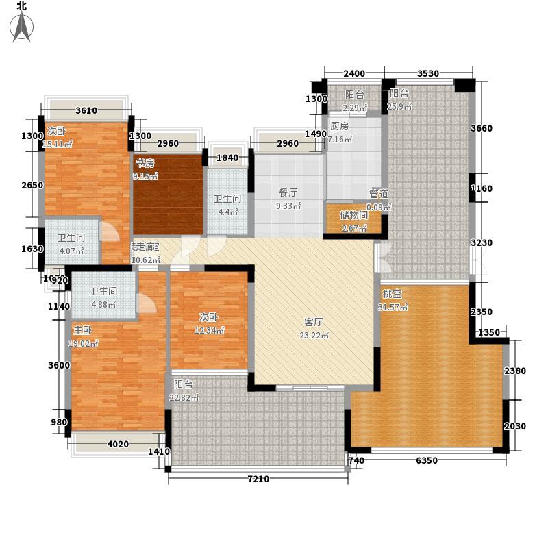 公园大地168.00㎡25栋B座03(偶数层)四房二厅三卫户型