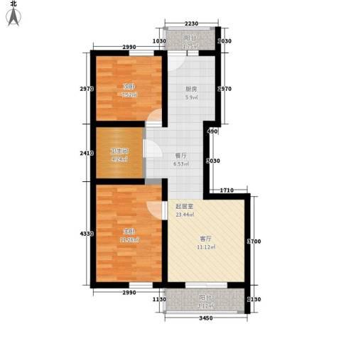 幸福里2室0厅1卫0厨60.00㎡户型图