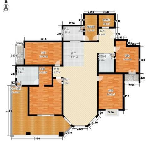 汾河景观3604室1厅2卫1厨262.00㎡户型图