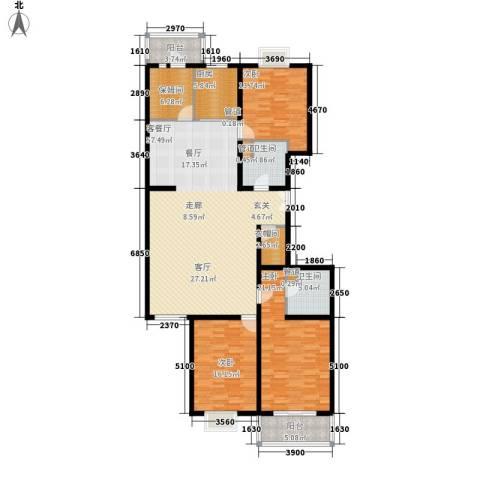 汾河景观3603室1厅2卫1厨188.00㎡户型图