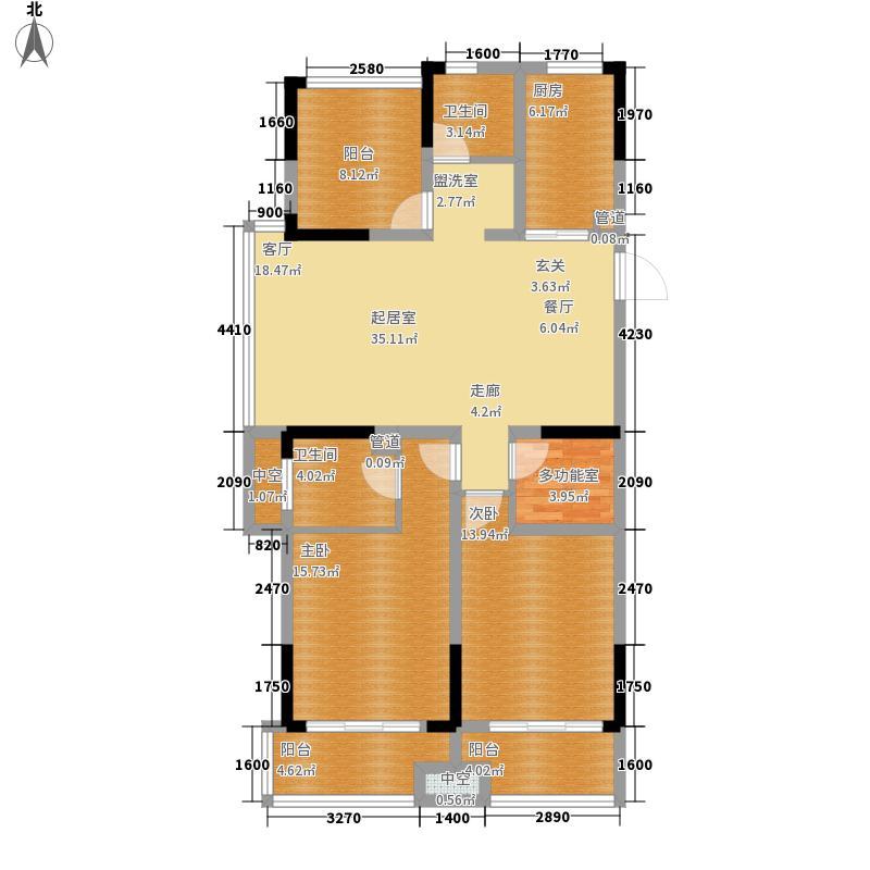 2077・青年汇117.00㎡10#11#E户型2室2厅2卫1厨