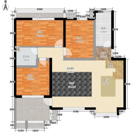 水电小区3室0厅1卫1厨107.00㎡户型图