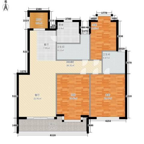 江阴外滩名门3室0厅2卫1厨149.00㎡户型图