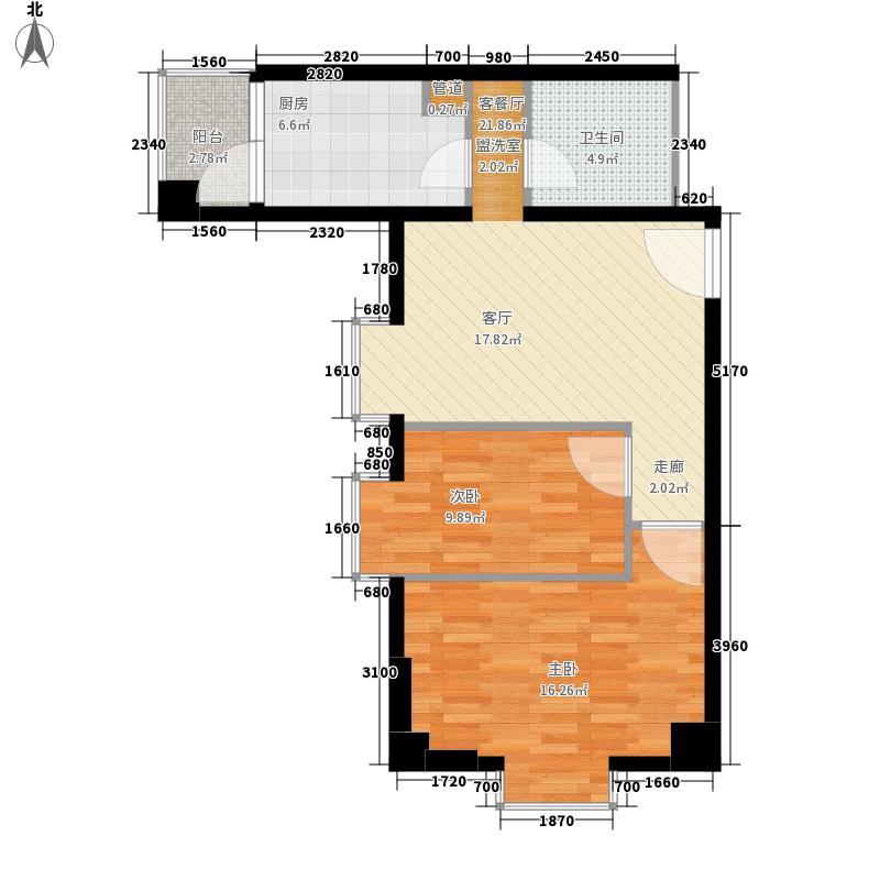 金府SOHO72.15㎡一期三批次户型2室1厅1卫1厨