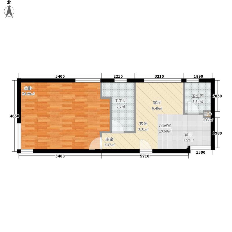旺海公府二期高层10号楼标准层E1户型